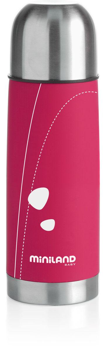 Термос для жидкостей Miniland Soft Thermo, цвет: фуксия, 330 мл10-01032-037Термос для жидкостей Miniland Soft Thermo позволит покормить ребенка вне дома, что очень удобно во время поездок и путешествий. Он сохранит напитки или бульоны для ребенка определенной температуры. Корпус термоса с двойной стенкой выполнен из прочной нержавеющей стали, которая гарантирует максимальную гигиену и надежность. Термос закрывается плотно и герметично завинчивающейся крышкой со специальным клапаном и сверху пластиковым колпаком, который можно использовать в качестве чашки.
