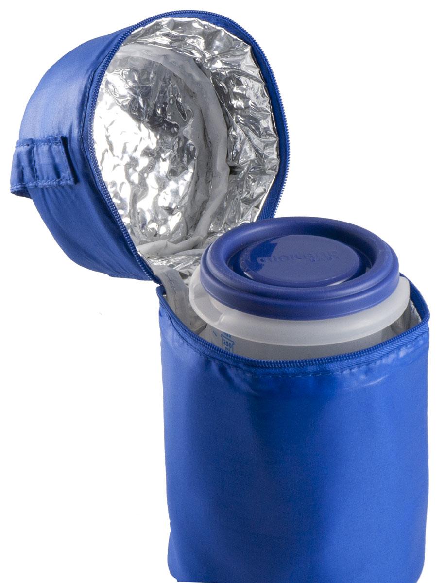 """Термосумка Miniland """"Pack-2-Go Hermisized"""" позволит покормить ребенка вне дома, что очень удобно во время поездок и путешествий. Она сохранит напитки или еду для ребенка определенной температуры. Благодаря внутреннему фольгированному слою сумка способна поддерживать как высокую, так и низкую температуру длительное время. В комплект с сумкой входят два пластиковых контейнера по 250 мл, которые отлично подойдут для хранения детского питания, пюре и каш. Они плотно закрываются крышкой, шкала на стенках позволяет легко дозировать питание. Не содержат Бисфенол А."""