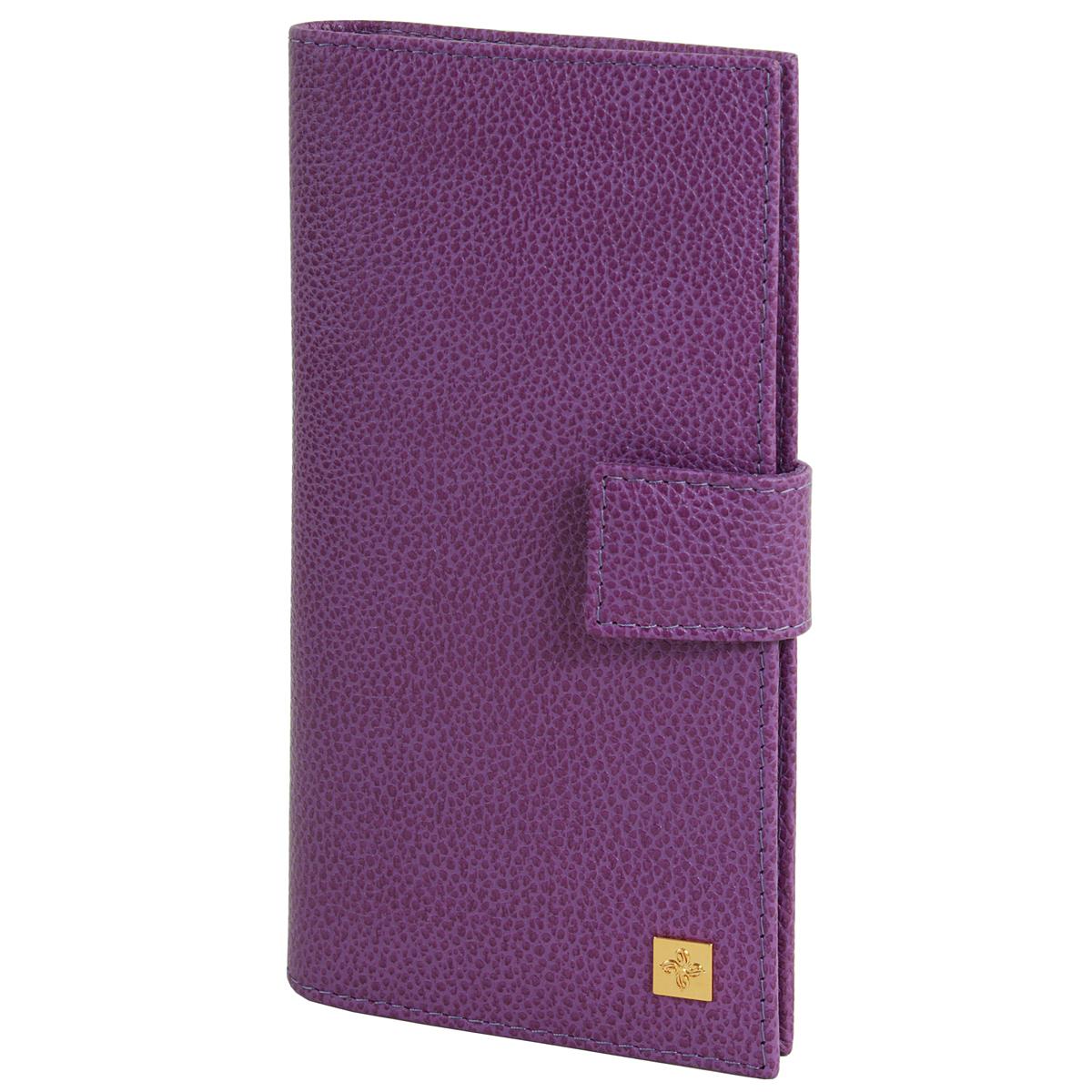 Портмоне женское Optima Dimanche Purpur, цвет: пурпурный. 107BM8434-58AEСтильное женское портмоне Optima выполнено из высококачественной натуральной кожи с тиснением. Портмоне закрывается при помощи хлястика на кнопку. Внутри - четыре отделения для купюр, одиннадцать кармашков для визиток, карман на молнии для монет и два кармашка для sim-карт. Портмоне упаковано в фирменную картонную коробку. Характеристики:Материал: натуральная кожа, текстиль, металл. Размер портмоне: 18,5 см х 8,5 см х 3 см. Цвет: пурпурный.