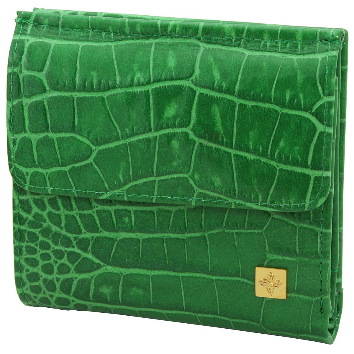 Кошелек женский Dimanche Казино, цвет: зеленый. 983W16-11128_323Женский компактный кошелек Казино выполнен из натуральной высококачественной кожи с декоративным тиснением под крокодила.Снаружи - объемный карман для мелочи, закрывается на кнопку. Внутри располагаются один карман для купюр с потайным отделением на молнии и карман для бумаг и небольших документов, также имеются два отделения для кредиток, кармашек для sim-карты, два смежных вертикальных кармана для небольших бумаг и карман с прозрачной стенкой. Кошелек упакован в фирменную картонную коробку. Характеристики:Материал: натуральная кожа, текстиль, металл. Размер кошелька: 10 см х 10 см х 3 см. Цвет: зеленый.