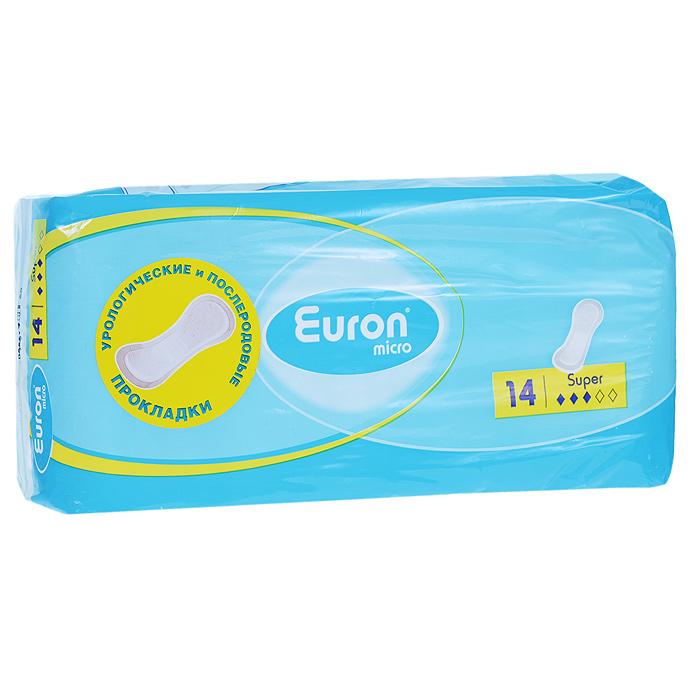 Euron Послеродовые и урологические прокладки Micro Super 14 шт140370339Прокладки анатомической формы Ontex Euron Micro. Extra Plusспециально созданы для легкой формы недержания или недержания на фоне стресса; могут использоваться во время беременности или в послеродовой период, после оперативных вмешательств. Небольшие прокладки незаметны при носке, надежно фиксируются к нижнему белью, с помощью широкой клеящей полосы, исключая смещение во время использования, и имеют отличные свойства поглощения. Особенности:Клеящая полоса позволяет надежно прикрепить прокладку к нижнему белью; Анатомическая форма повторяет контуры тела; Нежный эластичный кант сбоку позволяет прокладке плотно прилегать к телу, предотвращает от протеканий и гарантирует больший комфорт при использовании; Внешний дышащий нетканый слой Euron Cotton Feel, с ощущением хлопка, дарит ощущение комфорта и естественности; Система поглощения и нейтрализации запаха ODS оказывает антибактериальный эффект и поддерживает благоприятный для кожи фактор pH 5.5; Технология впитывания Hybatex превращает жидкость в гель и действует как магнит, прочно удерживая жидкость и запах внутри. Характеристики:Материал: хлопок. Степень впитываемости: 3 (Super). Товар сертифицирован.