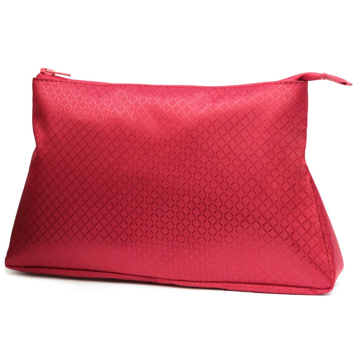 Косметичка Dimanche, цвет: красный. 280INT-06501Стильная косметичка Dimanche выполнена из текстиля. Косметичка на подкладке, закрывается на молнию, объемная, мягкая, внутри одно большое отделение. Объемное дно и удобная застежка делают аксессуар универсальным в повседневном использовании. Характеристики: Цвет: красный. Материал: металл, текстиль. Размер косметички: 23 см x 15 см x 6 см. Производитель: Россия. Артикул: 280.