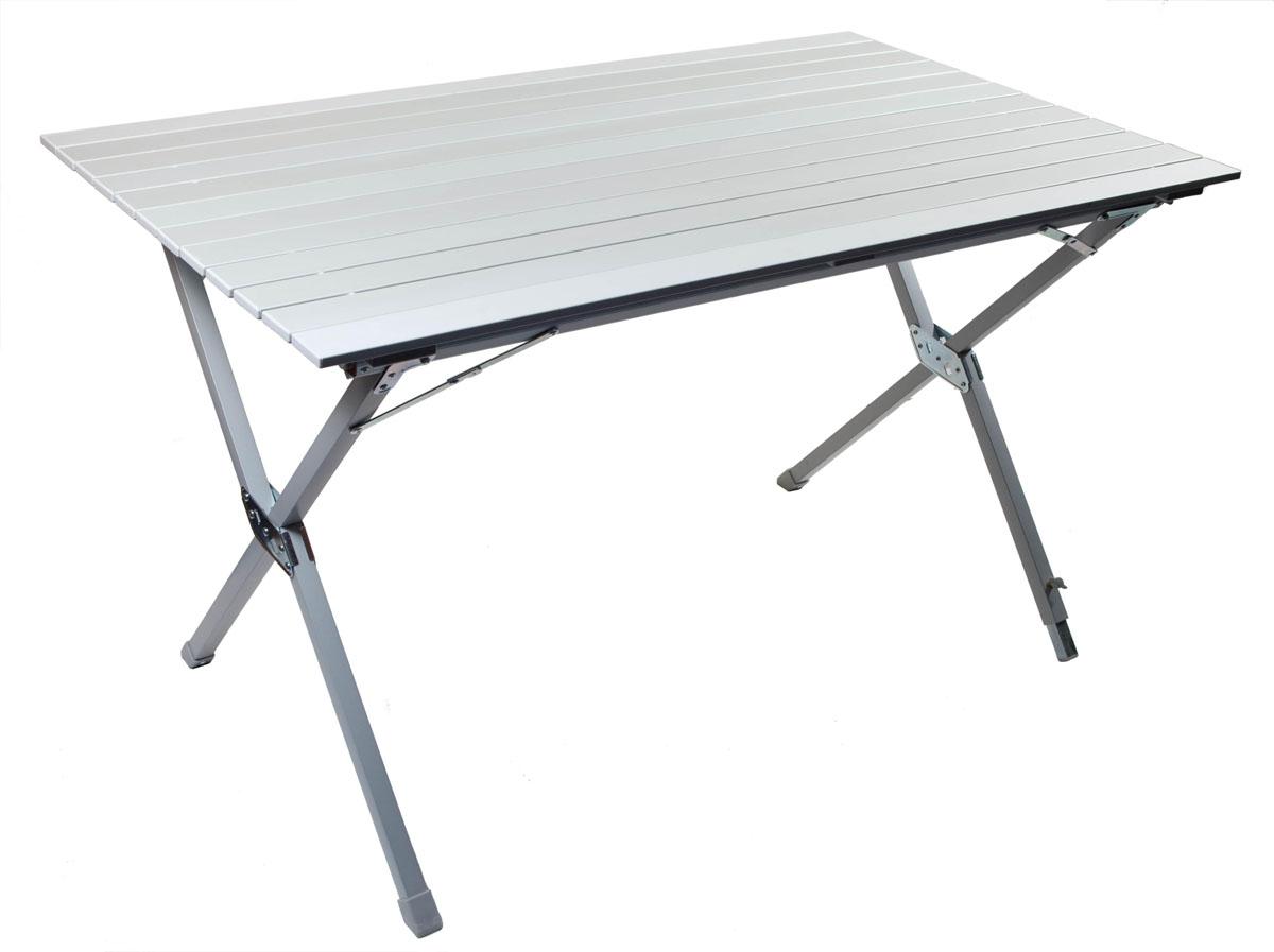 Стол складной TREK PLANET Dinner 120, кемпинговый, 120 х 70 х 71 смTA-570Складной стол DINNER Roll-up Alu 120 - отличный выбор для кемпинга. Столешница из наборного алюминия компактно скручивается в рулон. Одна ножка регулируется, позволяя поставить стол на неровной поверхности. В сложенном виде не занимает много места. Комплектуется чехлом с лямкой для переноски и хранения. Особенности: - Столешница из наборного алюминия. - Компактно скручивается в рулон. - Одна ножка регулируется, что позволяетпоставить стол на неровной поверхности. - Складывается в футляр из прочногоматериала с лямкой для переноски. Материал: Столешница: наборный алюминий с матовымпокрытием. Рама: 25 мм алюминий с матовым покрытием. Размер в разложенном виде: 120 х 70 х 71 см. Размер в сложенном виде: 20 х 13 х 120 см. Вес: 7,78 кг. Нагрузка: 30 кг. Производство: Китай. Артикул: ТА - 570.