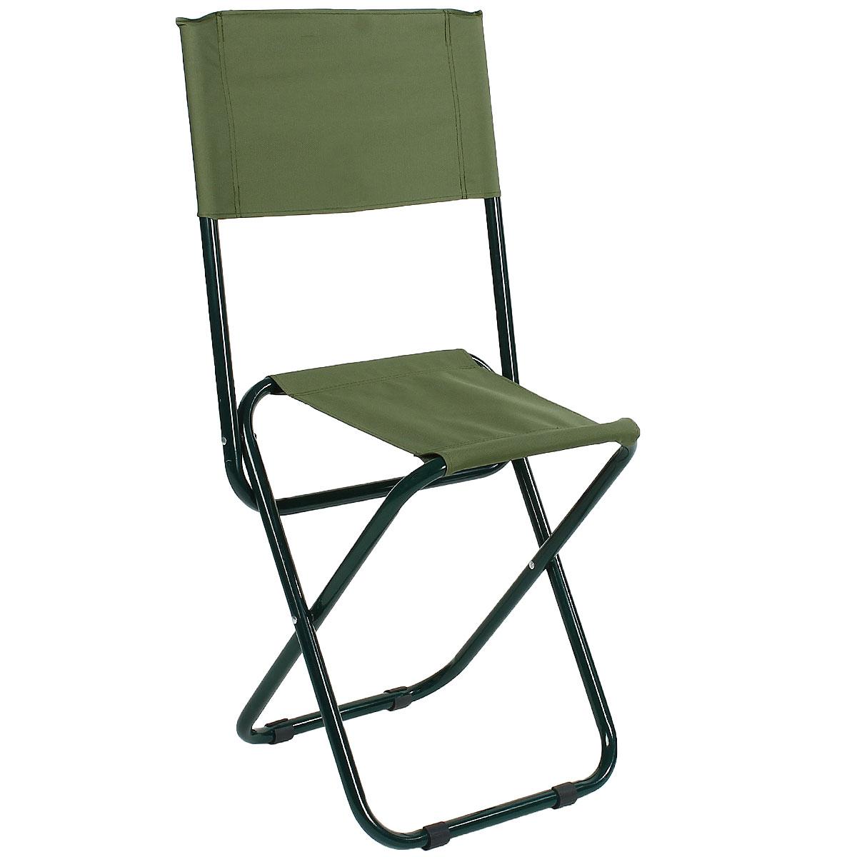 Стул складной Happy Camper, цвет: зеленый61077Стул складной Happy Camper - это незаменимый предмет походной мебели, очень удобен в эксплуатации. Каркас кресла изготовлен из прочной и долговечной стали, устойчивой к погодным условиям.Стул легко собирается и разбирается и не занимает много места, поэтому подходит для транспортировки и хранения дома. Складной стул прекрасно подойдет для комфортного отдыха на даче или в походе.Материал: 600D ПВХ, каркас - сталь, диаметром 22 мм.Размеры стула в сложенном состоянии: 47 см х 39 см х 44 см.Максимальная нагрузка: 60 кг.