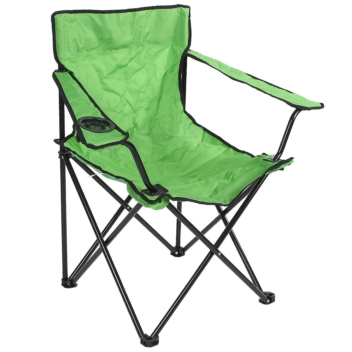 Кресло складное Happy Camper, цвет: зеленыйNF-20208Кресло складное Happy Camper - это незаменимый предмет походной мебели, очень удобен в эксплуатации. Каркас кресла изготовлен из прочного и долговечного алюминиевого сплава, устойчивого к погодным условиям.Кресло легко собирается и разбирается и не занимает много места, поэтому подходит для транспортировки и хранения дома. Складное кресло прекрасно подойдет для комфортного отдыха на даче или в походе.Материал: 600D ПВХ, каркас - сталь, диаметром 16 мм.Размеры кресла в сложенном состоянии: 85 см х 52 см х 41 см.Максимальная нагрузка: 100 кг.