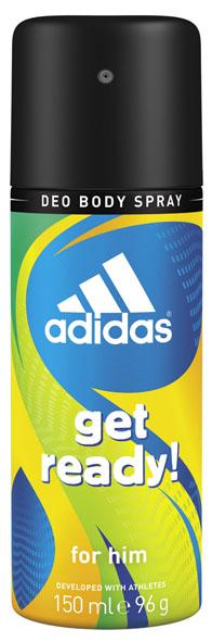 Adidas Дезодорант-спрей Get Ready!, мужской, 150 млFS-00897Дезодорант-спрей Adidas Get Ready! для него - это прекрасное сочетание надежной защиты и яркого древесно-цитрусового аромата для мужчин.Пирамида аромата:Верхние ноты:бразильский мандарин, ананас, морской аккорд. Ноты сердца:райская маракуя, лаванда, мускатный шалфей. Базовые ноты: древесные ноты, кедровые ноты, пачули. Характеристики:Объем: 150 мл.Товар сертифицирован.