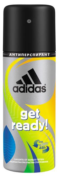 Adidas Дезодорант-спрей Get Ready! Cool & Dry, мужской, 150 мл