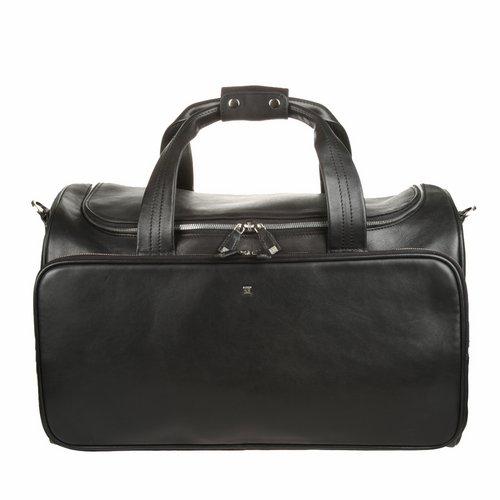 Сумка дорожная Sergio Belotti, цвет: черный. 9499DRF-F367Характеристики:Материал: натуральная кожа, текстиль, металл.Цвет: черный.Размер сумки: 47 см х 29 см х 30 см.Высота ручек: 21 см.