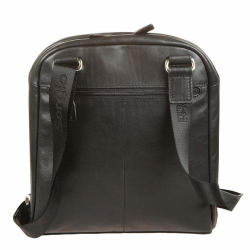 Сумка-планшет мужская Sergio Belotti, цвет: черный. 93043-47670-00504Сумка-планшет Sergio Belotti выполнена из натуральной кожи.Планшет имеет одно вместительное отделение, закрывающееся на застежку-молнию. Внутри - три кармана на молниях. На лицевой стороне расположено два вшитых кармана на молнии, один из которых содержит внутри четыре наборных кармашка для кредиток, карман для мобильного телефона и два фиксатора для ручек. На задней стенке - дополнительный карман на молнии. Планшет имеет плечевой ремень регулируемой длины. К планшету прилагается чехол для хранения.Этот стильный аксессуар станет изысканным дополнением к вашему образу. Характеристики:Материал: натуральная кожа, текстиль, металл. Цвет: черный. Размер сумки: 28 см х 5 см х 26 см. Размер упаковки: 31 см х 32 см х 11 см.