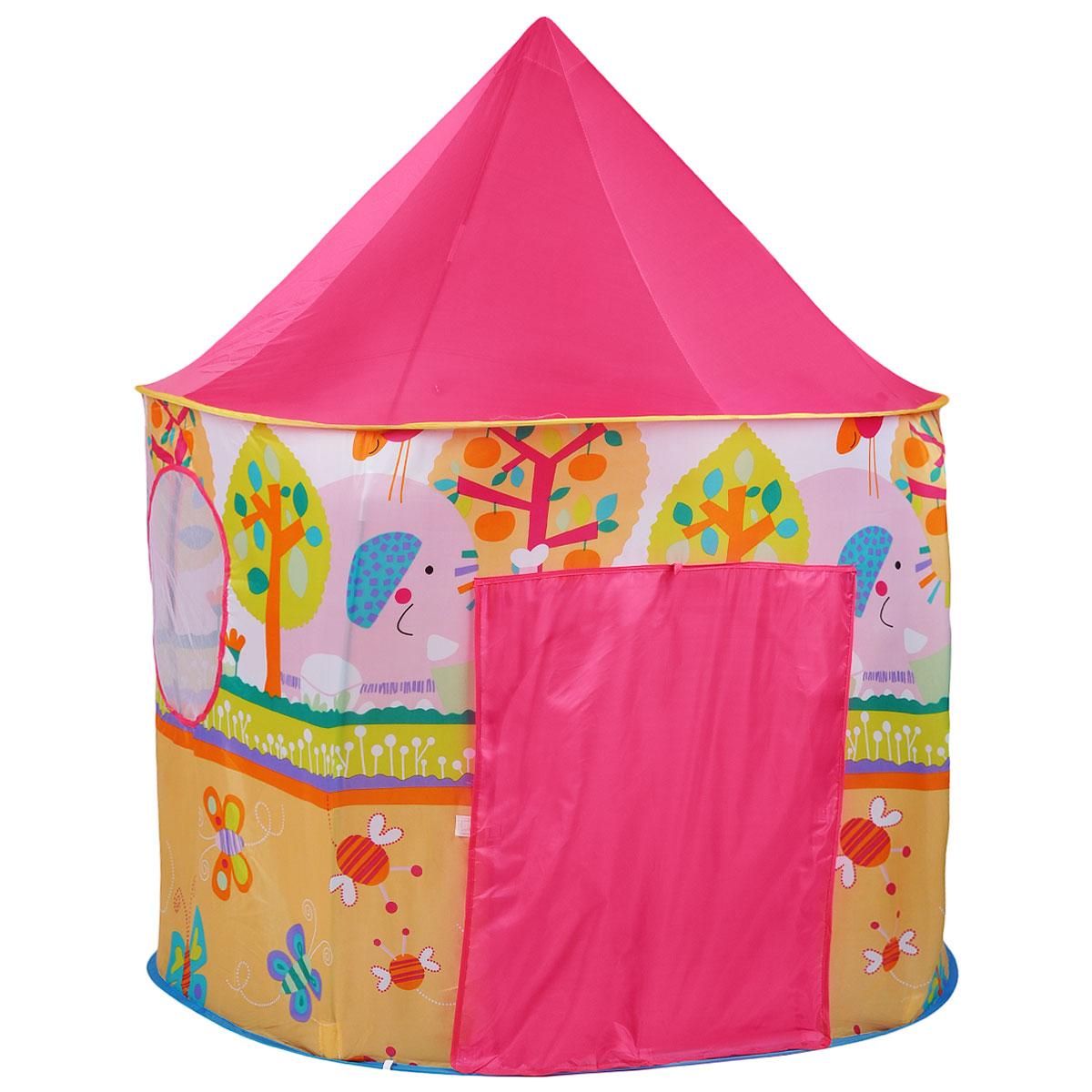 """Детская игровая палатка """"Pop Up House"""" идеально подойдет для детских игр, как на улице, так и в помещении. Она выполнена в виде шатра, снабжена одним входом и сетчатым окошком. Палатка изготовлена из легкого нейлона ярких цветов. Каркас палатки поддерживается при помощи металлических прутьев. Благодаря своей легкости и компактным размерам в сложенном виде палатку легко перевозить и хранить. Ваш ребенок с удовольствием будет играть в такой палатке, придумывая различные истории. Учеными давно подмечен факт, что ребенок чувствует себя психологически более защищенным, находясь под крышей, соответствующей его росту - именно поэтому дети очень любят лазить под стол, залезать в шкаф. В палатке """"Pop Up House"""" малыш будет чувствовать себя максимально уютно."""