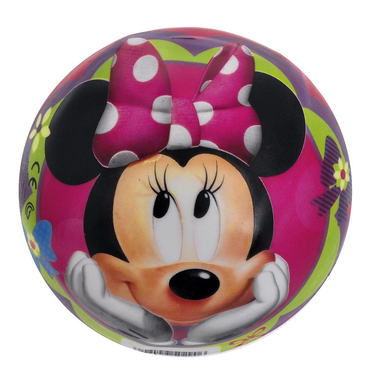 """Яркий детский мяч John """"Минни"""" - это игрушка для детей любого возраста. Он выполнен из ПВХ и оформлен изображениями Минни Маус и Дейзи Дак. Мяч незаменим для любителей подвижных игр и активного отдыха, подходит для игр на воде. Игры с мячом развивают координацию движений, способствуют физическому развитию ребенка. УВАЖАЕМЫЕ КЛИЕНТЫ! Просим вас обратить внимание на тот факт, что мяч поставляется в сдутом виде и надувается при помощи насоса (насос не входит в комплект)."""