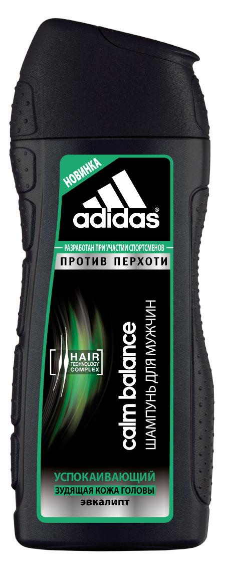 Adidas Шампунь Calm Balance, успокаивающий, против перхоти, с эвкалиптом, для склонной к зуду кожи головы, для мужчин, 200 млAC-2233_серыйЭкстремальный климат, занятия спортом и, как следствие, частое мытье головы способствует ослаблению волос.Мужчинам нужен шампунь, который не повреждает волосы даже при частом использовании. Шампунь Adidas Calm Balance против перхоти разработан при участии спортсменов. Его инновационная формула c комплексом Hair Technology обеспечивает глубокое очищение кожи головы, склонной к зуду.Комплекс Hair Technology – это уникальное сочетание двух основных компонентов, известных своим действием: - Пантенол: интенсивное увлажнение; - Катионный полимер: облегчение расчесывания волос. Пиритион цинка помогает бороться с перхотью. Формула шампуня с ароматом эвкалипта ощутимо успокаивает и смягчает кожу головы.Технология Без силикона исключительно бережно воздействует на волосы. Характеристики:Объем: 200 мл. Товар сертифицирован.