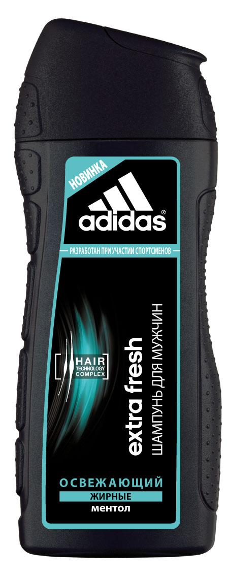 Adidas Шампунь Extra Fresh, освежающий, с ментолом, для склонных к жирности волос, для мужчин, 200 млMP59.4DЭкстремальный климат, занятия спортом и, как следствие, частое мытье головы способствует ослаблению волос.Мужчинам нужен шампунь, который не повреждает волосы даже при частом использовании. Шампунь Adidas Extra Fresh разработан при участии спортсменов.Его инновационная формула c комплексом Hair Technology обеспечивает глубокое очищениеволос, склонных к жирности.Комплекс Hair Technology - это уникальное сочетание двух основных компонентов, известных своим действием:- Пантенол: интенсивное увлажнение;- Катионный полимер: облегчение расчесывания волос.Формула шампуня содержит ментол, благодаря чему освежает кожу головы и обеспечивает мгновенный охлаждающий эффект.Технология Без силикона исключительно бережно воздействует на волосы. Характеристики:Объем: 200 мл. Товар сертифицирован.