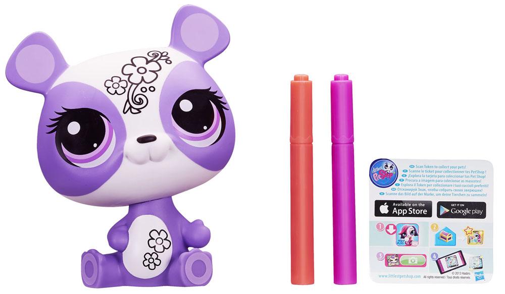 Littlest Pet Shop: Укрась зверюшку, цвет: фиолетовый, белый