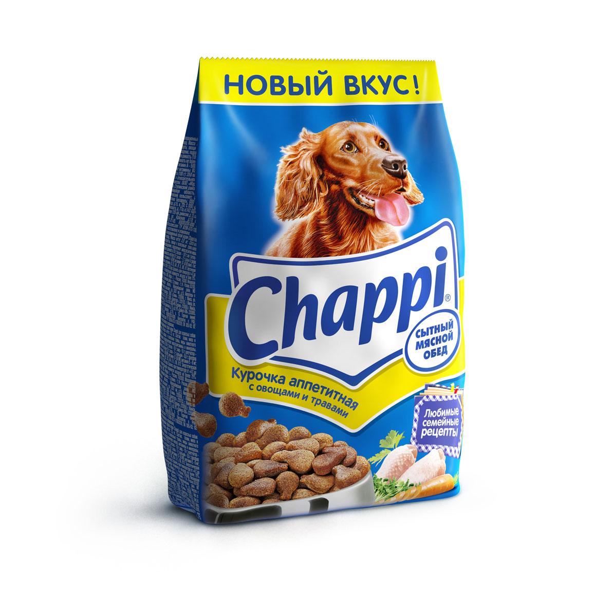Корм сухой для собак Chappi Сытный мясной обед, курочка аппетитная, 2,5 кг0120710Сухой корм Chappi Сытный мясной обед - это специально разработанная еда для собак с оптимально сбалансированным содержанием белков, витаминов и микроэлементов.Уникальная формула Chappi включает в себя все необходимые для здоровья компоненты: - мясо - для силы и энергии в течение дня; - овощи, травы и злаки - для отличного пищеварения; - масла и жиры - для блестящей шерсти и здоровой кожи; - кальций - для крепких зубов и костей; - витамины - для защиты здоровья; - минералы - для подержания собаки в оптимальной форме.Корм Chappi идеально подходит для вашего любимца как надежный источник жизненных сил. Состав: злаки, мясо и субпродукты, жиры животного происхождения, морковь, люцерна, растительные масла, минеральные вещества, витамины.Пищевая ценность в 100 г: белок - 18 г, жиры - 10 г, клетчатка - 7 г, влажность - не более 10 г, зола - 7 г, кальций - 0,8 г, фосфор - 0,6 г, витамин А - 500 МЕ, витамин D - 50 МЕ, витамин Е - 8 мг, витамины В2, В12, пантотеновая и никотиновая кислоты.Энергетическая ценность в 100 г: 350 ккал.Вес: 2,5 кг.Товар сертифицирован.
