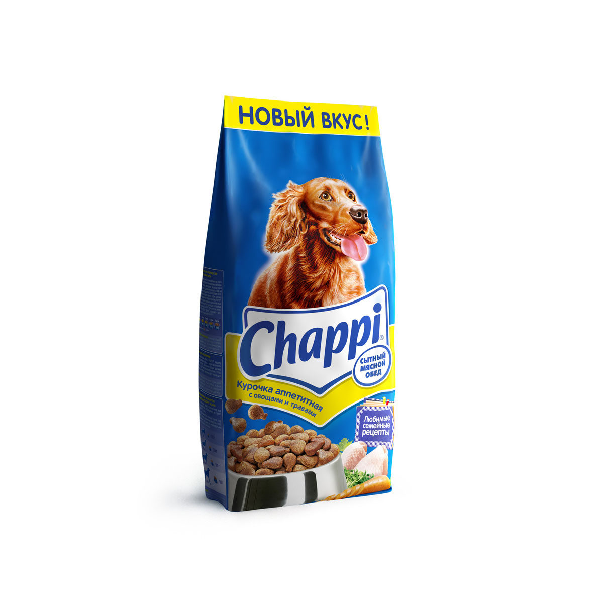 Корм сухой для собак Chappi Сытный мясной обед, курочка аппетитная, 15 кг0120710Сухой корм Chappi Сытный мясной обед - это специально разработанная еда для собак с оптимально сбалансированным содержанием белков, витаминов и микроэлементов.Уникальная формула Chappi включает в себя все необходимые для здоровья компоненты: - мясо - для силы и энергии в течение дня; - овощи, травы и злаки - для отличного пищеварения; - масла и жиры - для блестящей шерсти и здоровой кожи; - кальций - для крепких зубов и костей; - витамины - для защиты здоровья; - минералы - для подержания собаки в оптимальной форме.Корм Chappi идеально подходит для вашего любимца как надежный источник жизненных сил. Состав: злаки, мясо и субпродукты, жиры животного происхождения, морковь, люцерна, растительные масла, минеральные вещества, витамины.Пищевая ценность в 100 г: белок - 18 г, жиры - 10 г, клетчатка - 7 г, влажность - не более 10 г, зола - 7 г, кальций - 0,8 г, фосфор - 0,6 г, витамин А - 500 МЕ, витамин D - 50 МЕ, витамин Е - 8 мг, витамины В2, В12, пантотеновая и никотиновая кислоты.Энергетическая ценность в 100 г: 350 ккал.Вес: 15 кг.Товар сертифицирован.