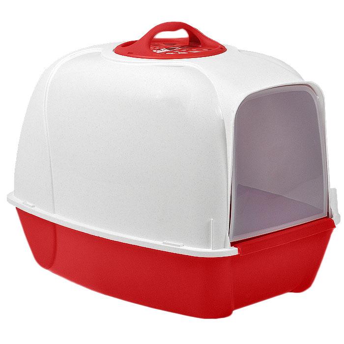 Био-туалет для кошек MPS Pixi, цвет: белый, красный440065Био-туалет для кошек MPS Pixi, выполненный из нетоксичного пластика в виде домика, поможет вашему питомцу уединиться для удовлетворения своих физиологических потребностей. Туалет оснащен съемной дверцей из прозрачного пластика, которую ваш питомец сможет открыть без труда. Био-туалет не распространяет неприятные запахи, благодаря встроенному угольному фильтру. Кроме того, он обеспечит чистоту в вашей квартире, так как не позволит при закапывании разбрасывать кошке наполнитель вокруг туалета. В комплект входит удобная ручка для переноски.Есть возможность замены угольного фильтра (продается отдельно). Товар сертифицирован.