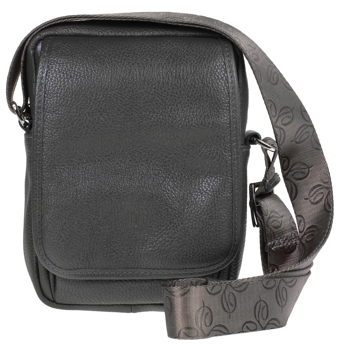 Сумка женская Dimanche Classic, цвет: серый. 508/24S76245Стильная женская сумка Dimanche Classic выполнена из натуральнойвысококачественной кожи серого цвета. Сумка имеет одно отделение изакрывается на застежку-молнию. Внутри - накладной кармашек. На внешней стороне сумки расположен кармашек, который закрывается на молнию и дополнительно клапаном. На задней стороне сумки расположен вшитый кармашек на молнии. Внутри расположено два кармашка для телефона или мелочей. Сумка оснащена ручкой лентой. Фурнитура - серебристого цвета. Сумка упакована в фирменный текстильный мешок.Сумка женская Dimanche Shop Bag подчеркнет вашу яркуюиндивидуальность и сделает образ завершенным. Характеристики: Материал: натуральная кожа, текстиль, металл. Цвет: серый. Размер сумки: 22 см х 16 см х 7 см. Длина плечевого ремня: 75 см.