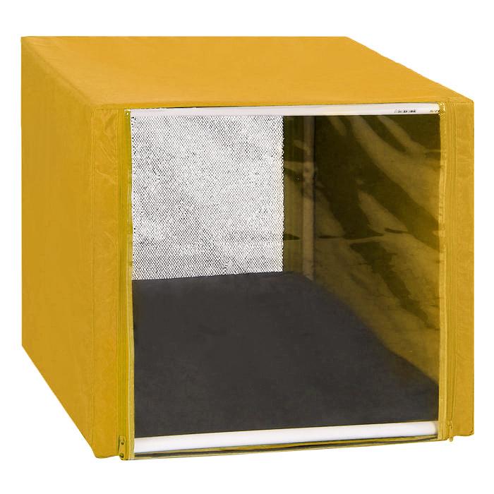 Клетка для кошек Заря-Плюс, выставочная, разборная, цвет: желтый, 56 см х 56 см х 56 см. КВР00120710Выставочная клетка-палатка Заря-Плюс - отличный выбор для участия на любой российской или международной кошачьей выставке.Данная модель выставочной клетки обладает многочисленными преимуществами: - клетка выполнена из высококачественного материала - ПВХ; - клетка разборная, в комплект входит сборный каркас из пластиковых труб вместе с соединительными уголками; - боковые стороны клетки закрытые; - лицевая сторона клетки выполнена из пленки, которая пристегивается с помощью молнии; - обратная сторона клетки выполнена из сетки, которая также пристегивается с помощью молнии; - в сложенном виде клетка довольно компактна, при хранении занимает мало места; - клетка переносится в чехле, который входит в комплект; - для удобной переноски чехол имеет короткую и длинную ручки, также на чехле имеется 2 больших кармана на молнии; - в комплект входит матрац со съемным чехлом на молнии, при необходимости он легко снимается для стирки.