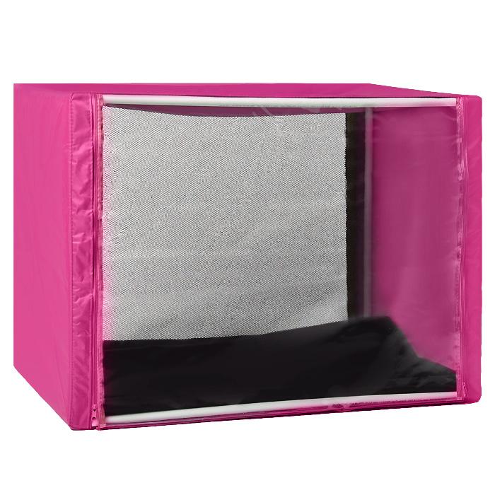 Клетка для кошек Заря-Плюс, выставочная, разборная, цвет: малиновый, 90 см х 70 см х 70 см. КВР2K-K3Выставочная клетка-палатка Заря-Плюс - отличный выбор для участия на любой российской или международной кошачьей выставке.Данная модель выставочной клетки обладает многочисленными преимуществами: - клетка выполнена из высококачественного материала - ПВХ; - клетка разборная, в комплект входит сборный каркас из пластиковых труб вместе с соединительными уголками; - боковые стороны клетки закрытые; - лицевая сторона клетки выполнена из пленки, которая пристегивается с помощью молнии; - обратная сторона клетки выполнена из сетки, которая также пристегивается с помощью молнии; - в сложенном виде клетка довольно компактна, при хранении занимает мало места; - клетка переносится в чехле, который входит в комплект; - для удобной переноски чехол имеет короткую и длинную ручки, также на чехле имеется 2 больших кармана на молнии; - в комплект входит матрац со съемным чехлом на молнии, при необходимости он легко снимается для стирки.