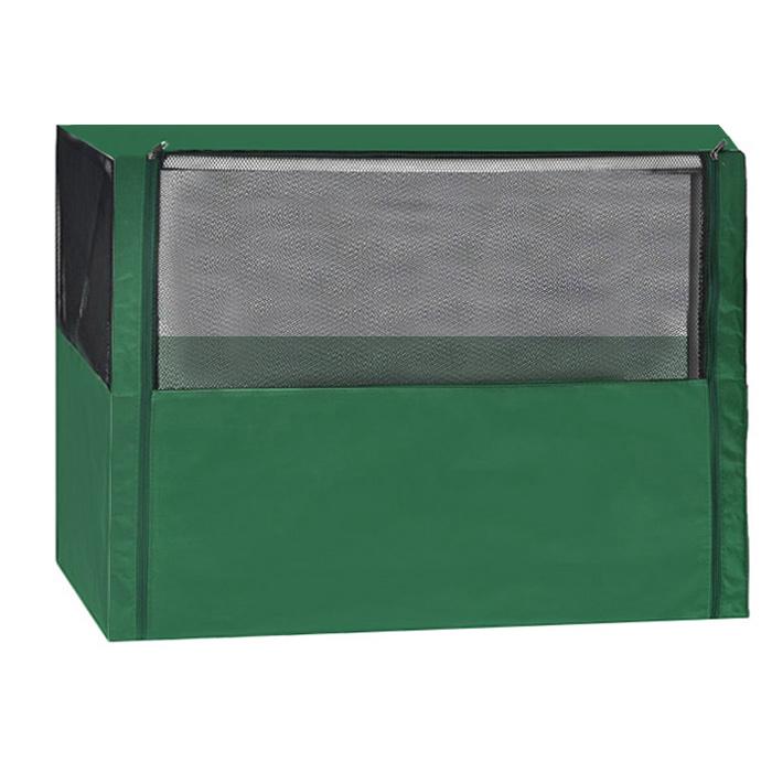 Клетка-вольер  Заря-Плюс , разборная, цвет: зеленый, 90 х 70 х 70 см. КВС1 - Будки для собак