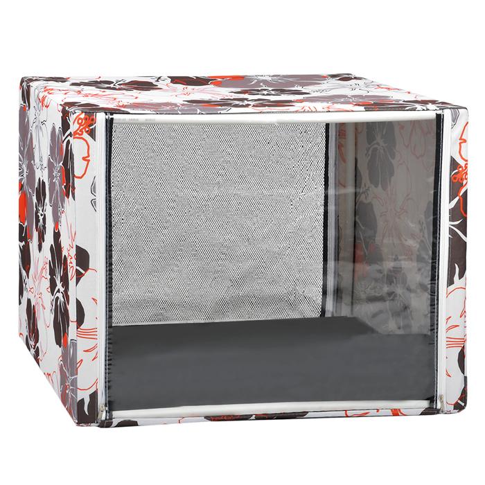 Клетка для кошек Крупные цветы, выставочная, разборная, цвет: красный, бежевый, 76 см х 56 см х 56 см44Выставочная клетка-палатка КВР1ц - отличный выбор для участия на любой российской или международной кошачьей выставке.Данная модель выставочной палатки обладает многочисленными преимуществами: - палатка выполнена из высококачественной ткани - ПВХ; - палатка разборная; в комплект входит сборный каркас из пластиковых труб вместе с соединительными уголками; - боковые стороны палатки закрытые; - лицевая сторона палатки выполнена из пленки, которая пристегивается с помощью молнии; - обратная сторона палатки выполнена из сетки, которая также пристегивается с помощью молнии; - в сложенном виде палатка довольно компактна, при хранении занимает мало места; - палатка переносится в чехле, который входит в комплект; - для удобной переноски чехол имеет короткую и длинную ручки, также на чехле имеется 2 больших кармана на молнии; - в комплект входит матрац со съемным чехлом на молнии; при необходимости матрац легко снимается для стирки.