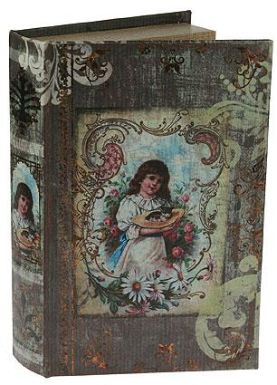 Шкатулка-фолиант Девочка, цвет: бежевый, 26 х 16,5 х 4,5 см 184172RG-D31SШкатулка-фолиант выполнена в виде старинной книги. Оригинальное оформление шкатулки, несомненно, привлечет к себе внимание. Поверхность шкатулки-фолианта выполнена из кожзаменителя и оформлена изображением девочки с котенком. Внутри шкатулка отделана кожзаменителем. Такая шкатулка может использоваться для хранения бижутерии, в качестве украшения интерьера, а также послужит хорошим подарком для человека, ценящего практичные и оригинальные вещицы. Характеристики:Материал: кожзаменитель, МДФ. Размер шкатулки: 26 см х 16,5 см х 4,5 см.Цвет: бежевый.