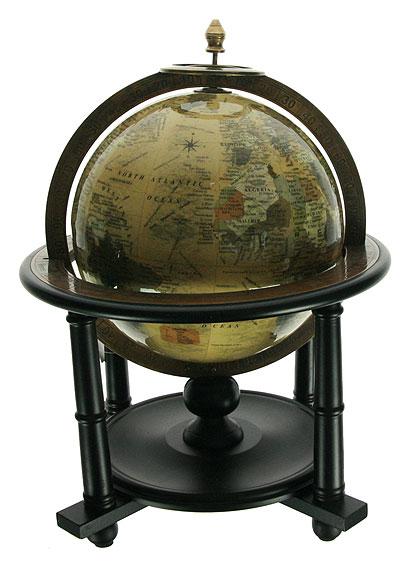 Глобус настольный Win Max, цвет: бежевый, диаметр 20 см94536Настольный глобус Win Max с политической картой мира станет оригинальным украшением рабочего стола или интерьера вашего кабинета. Глобус выполнен из стекла и латуни, и расположен на подставке из дерева черного цвета. Названия стран на глобусе приведены на английском языке. Настольный глобус - изысканная вещь для стильного интерьера, которая станет прекрасным подарком для современного преуспевающего человека, следующего последним тенденциям моды и стремящегося к элегантности и комфорту в каждой детали. Диаметр глобуса: 20 см. Размер глобуса (с учетом подставки): 30 х 30 х 38 см.Размер подставки: 30 х 30 х 29 см.