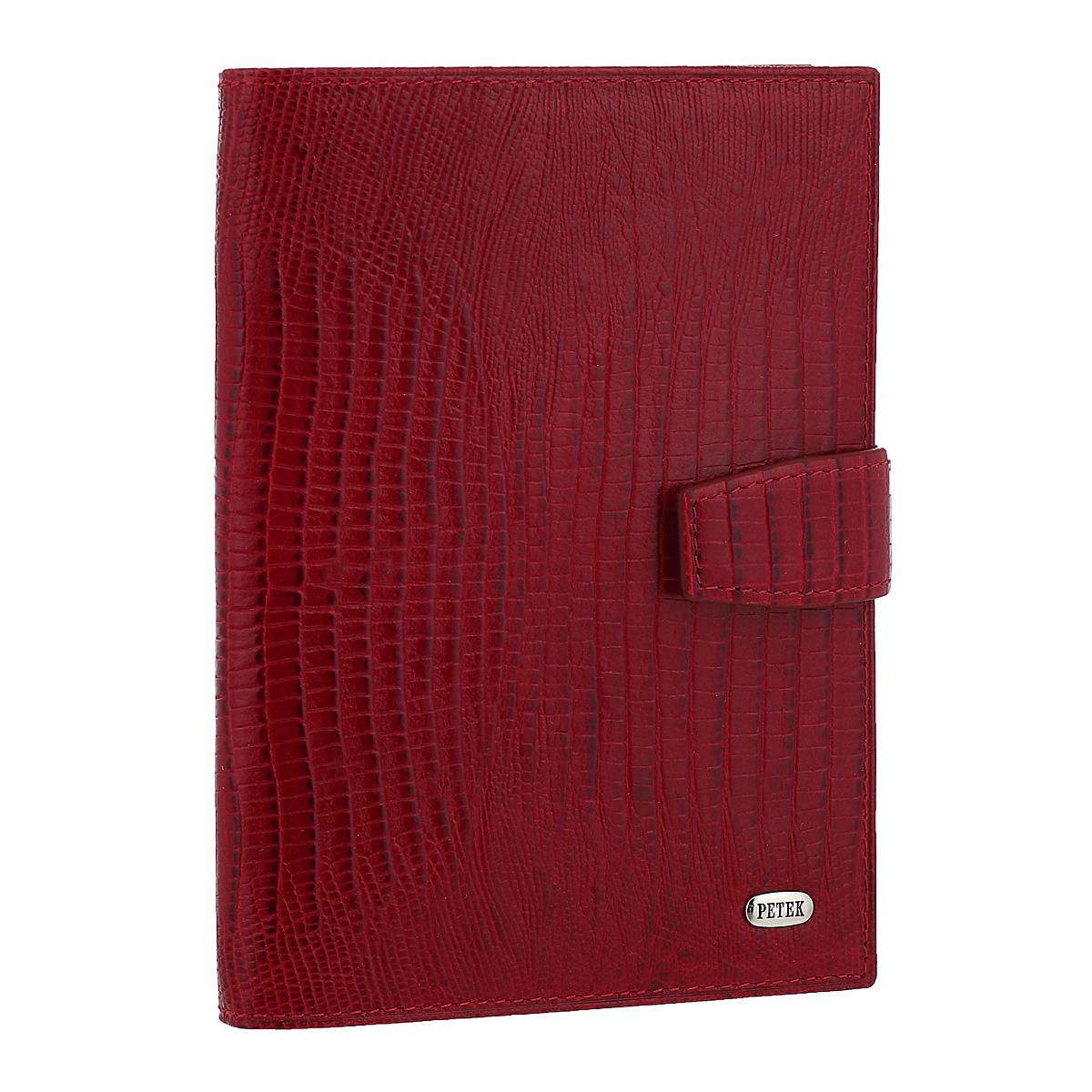 Обложка для автодокументов и паспорта Red, цвет: красный. 595.041.101-022_516Обложка для автодокументов и паспорта Red не только поможет сохранить внешний вид ваших документов и защитить их от повреждений, но и станет стильным аксессуаром, идеально подходящим вашему образу. Обложка выполнена из натуральной кожи с декоративным тиснением под крокодила. На внутреннем развороте имеются два прозрачных кармана, съемный блок из шести прозрачных файлов из мягкого пластика, один из которых формата А5 и два вертикальных кармана. Обложка закрывается хлястиком на кнопку.Упакована в фирменную картонную коробку. Такая обложка станет замечательным подарком человеку, ценящему качественные и практичные вещи. Характеристики:Материал:натуральная кожа, металл, текстиль, пластик. Размер обложки (в сложенном виде): 10,5 см х 13,5 см х 1,5 см. Цвет: красный. Размер упаковки: 11,5 см х 15 см х 2,5 см. Артикул: 595.041.10.