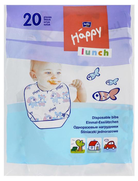 Одноразовые нагрудники Bella Baby Happy Lunch, с карманом, 20 шт влажные салфетки bella baby happy