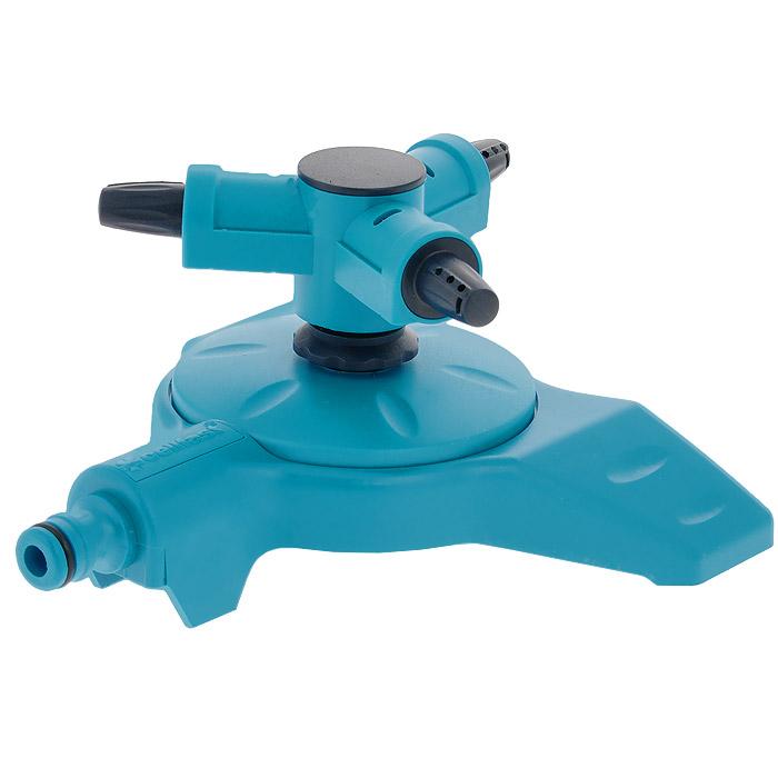 Разбрызгиватель вращающийся Cellfast Twister, 3 сопла96281496Вращающийся разбрызгиватель Cellfast Twister применяется для орошения почвы. Присоединяется к шлангу при помощи универсального соединителя. Совместим со всеми элементами аналогичной поливочной системы. Имеет 3 сопла. Характеристики: Материал: пластик. Цвет: голубой. Размер оросителя (ДхШхВ): 18 см х 18 см х 9 см. Дальность полива: 15 м.