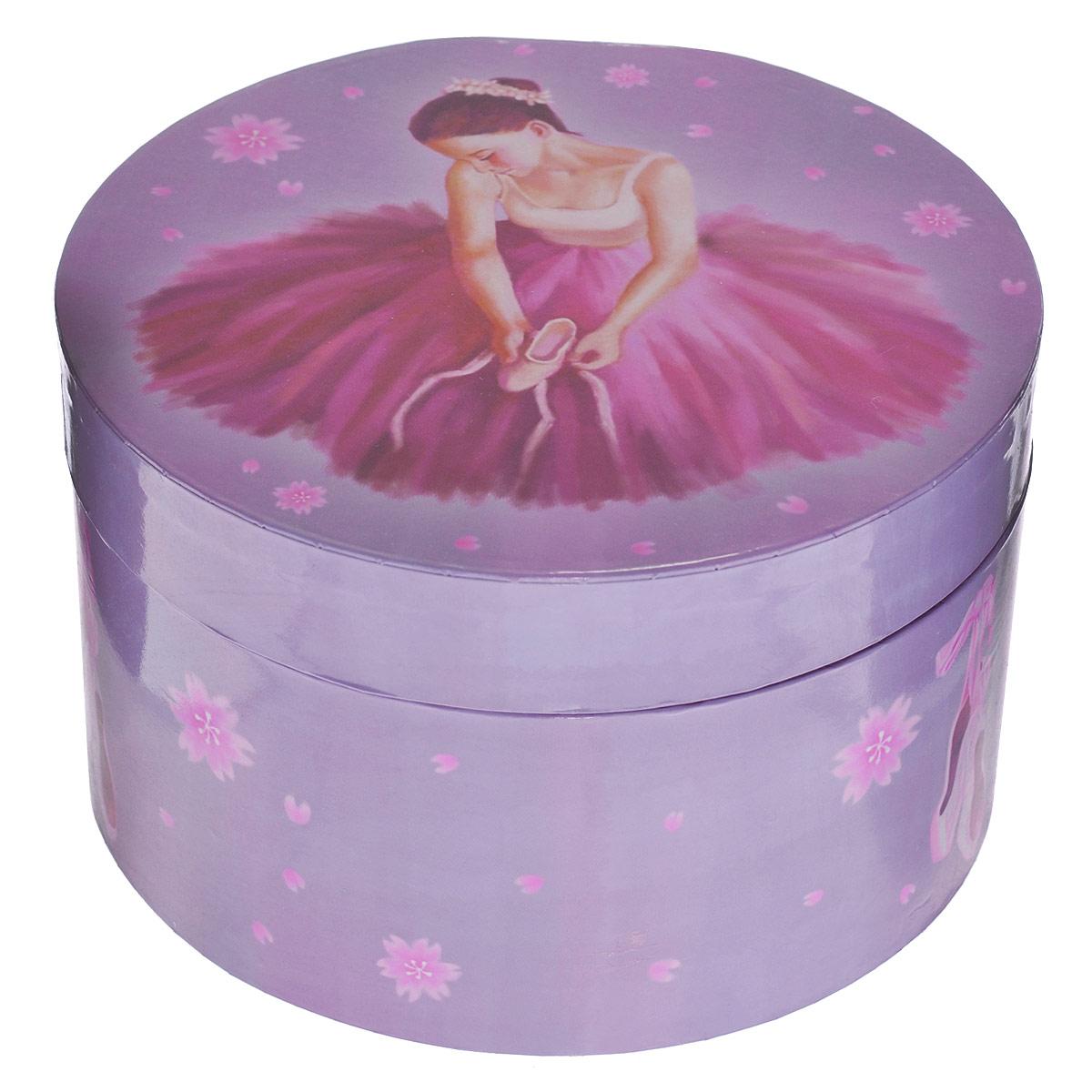 Музыкальная шкатулка Jakos  Балерина , цвет: фиолетовый, розовый -  Предметы интерьера