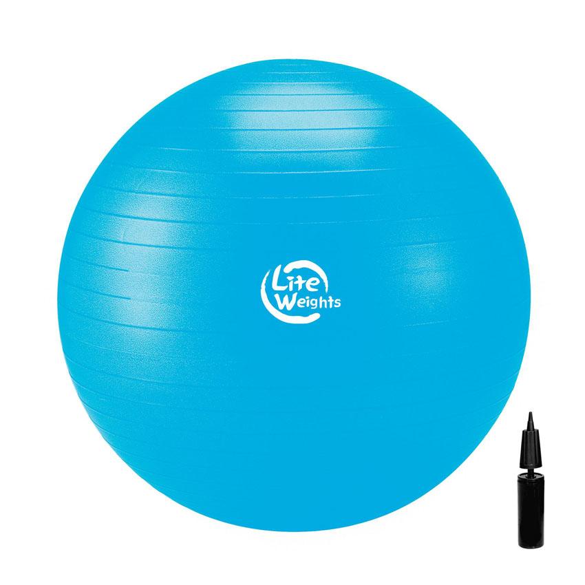 Мяч гимнастический Lite Weights, цвет: голубой, диаметр 75 смSF 0085Гимнастический мяч Lite Weights является универсальным тренажером для всех групп мышц, помогает развить гибкость, исправить осанку, снимает чувство усталости в спине.Незаменим на занятиях фитнесом и лечебной физкультурой. Главная функция мяча - снять нагрузку с позвоночника и разгрузить суставы.Существует очень немного упражнений, которые помогут прокачать мышцы вокруг позвоночного столба. И инструктора фитнес-клубов оченьхорошо знают об этом! Но именно гимнастические мячи способны тренировать спину и улучшать осанку, бороться с искривлениями позвоночника,в особенности у детей и подростков. Гимнастический мяч может использоваться также при массаже новорожденных.Мяч выполнен из ПВХ повышенной прочности с добавлением силикона, это так называемая антиразрывная система. Поэтому с этим мячомвы можете не бояться внезапного резкого разрыва мяча. Преимущества гимнастических мячей:- снабжен системой антивзрыв - специальная технология, предупреждающая мяч от разрыва при сильной нагрузке;- их могут использовать люди, страдающие лишним весом и варикозным расширением вен;- задействуют практически все группы мышц; - используются при занятиях лечебной гимнастикой, аэробикой, фитнесом;- максимальная нагрузка: 110 кг;- способствуют восстановлению мышечных функций и улучшению здоровья в целом.Уважаемые клиенты!Просим обратить ваше внимание на тот факт, что мяч поставляется в сдутом виде и надувается при помощи насоса (насос входит в комплект).