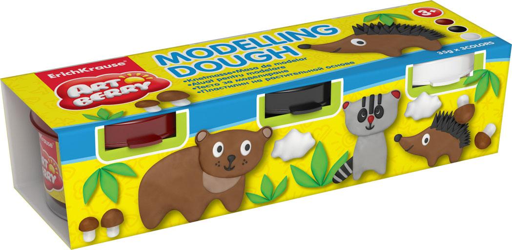 Пластилин на растительной основе Modelling Dough №3, 3 цвета280042Пластилин на растительной основе Modelling Dough - увлекательная игрушка, развивающая у ребенка мелкую моторику рук, воображение и творческое мышление. Пластилин легко разминается, не липнет к рукам и рабочей поверхности, не пачкает одежду. Цвета смешиваются между собой, образуя новые оттенки. Пластилин застывает на открытом воздухе через 24 часа. Набор содержит пластилин 3 цвета (коричневый, черный, белый). Пластилин каждого цвета хранится в отдельной пластиковой баночке. С пластилином на растительной основе Modelling Dough ваш ребенок будет часами занят игрой. Характеристики:Общий вес пластилина: 35 г. Изготовитель: Россия.