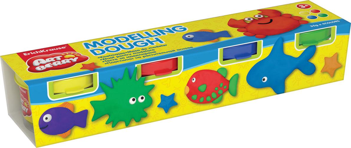 Пластилин на растительной основе Modelling Dough №1, 4 цвета280043Пластилин на растительной основе Modelling Dough - увлекательная игрушка, развивающая у ребенка мелкую моторику рук, воображение и творческое мышление. Пластилин легко разминается, не липнет к рукам и рабочей поверхности, не пачкает одежду. Цвета смешиваются между собой, образуя новые оттенки. Пластилин застывает на открытом воздухе через 24 часа. Набор содержит пластилин 4 цвета (желтого, красного, синего, зеленого). Пластилин каждого цвета хранится в отдельной пластиковой баночке. С пластилином на растительной основе Modelling Dough ваш ребенок будет часами занят игрой. Характеристики:Общий вес пластилина: 35 г. Изготовитель: Россия.