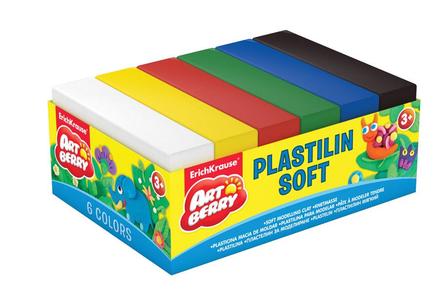 Пластилин Artberry, 6 цветов. 3330272523WDПластилин Artberry невероятно мягкий и пластичный, поэтому легкопринимаеттребуемую форму. Не липнет к рукам или рабочей поверхности. Кроме тогоимможно рисовать, из него можно делать мультики, модели на каркасе, амягким он остается в течение 5 лет. Яркие, насыщенные цвета легкосмешиваются для получения новых оттенков.Изготовлен из материалов на натуральной растительной основе, поэтомубезвреден для ребенка. В набор входит пластилин белого, желтого, красного, зеленого, синего, черного цветов. Характеристики: Общий вес пластилина:50 г. Размер бруска:7 см х 3,7 см х 1,5 см.