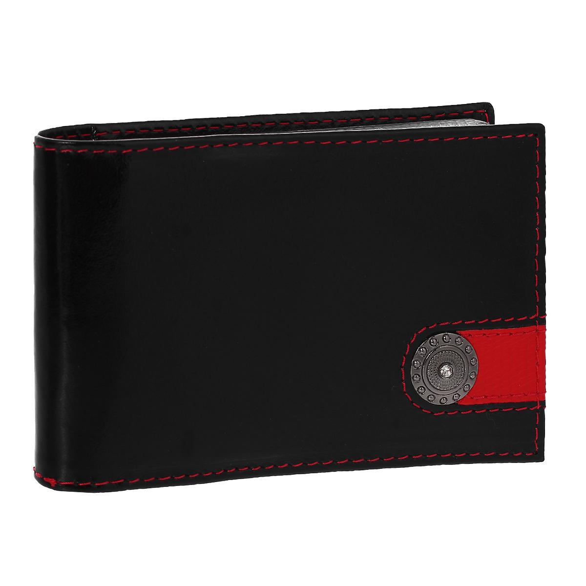 Визитница Dimanche Panthere Noire, цвет: черный. 3273430329Визитница Panthere Noire - это стильный аксессуар, который не только сохранит визитки и кредитные карты в порядке, но и, благодаря своему строгому дизайну и высокому качеству исполнения, блестяще подчеркнет тонкий вкус своего обладателя. Визитница выполнена из натуральной высококачественной кожи, оформлена металлическим элементом со стразой и содержит внутри съемный блок из 16 прозрачных пластиковых вкладышей, рассчитанных на 32 визитки.Визитница Panthere Noire станет великолепным подарком ценителю современных практичных вещей. Изделие упаковано в фирменную коробку из картона. Характеристики:Материал: натуральная кожа, пленка ПВХ, металл. Цвет: черный. Размер визитницы: 10,5 см х 6,5 см х 1,5 см.