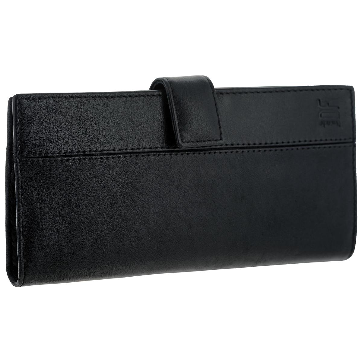 Портмоне мужское Dimanche Classic, цвет: черный. 897EQW-M710DB-1A1Вертикальное мужское портмоне Classic выполнено из высококачественной натуральной кожи.Внутри содержит четыре отделения для купюр, карман для мелочи на молнии, 11 карманов для визиток, горизонтальный карман для бумаг, фиксатор для ручки и два кармашка для sim-карт.Портмоне упаковано в фирменную картонную коробку. Характеристики: Материал: натуральная кожа, текстиль, металл. Цвет: черный. Размер портмоне: 18,5 см х 9 см х 2,5 см.
