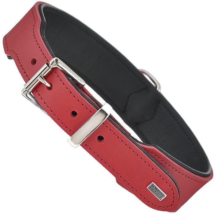 Ошейник для собак Hunter Smart Basic, цвет: красный, длина 60 см