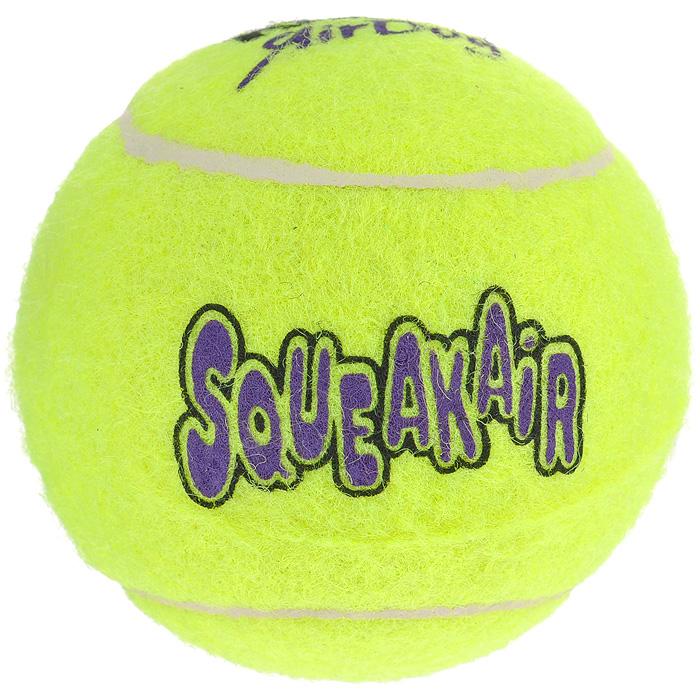 Игрушка для собак Air Теннисный мяч. AST1B0120710Игрушка Air Теннисный мяч предназначена для собак средних пород весом от 5 до 15 кг.Игрушки для собак Air Kong - на 100% настоящие теннисные мячи.Эти игрушки пищат, имеют непредсказуемую траекторию при отскакивании от земли и могут плавать на поверхности воды!