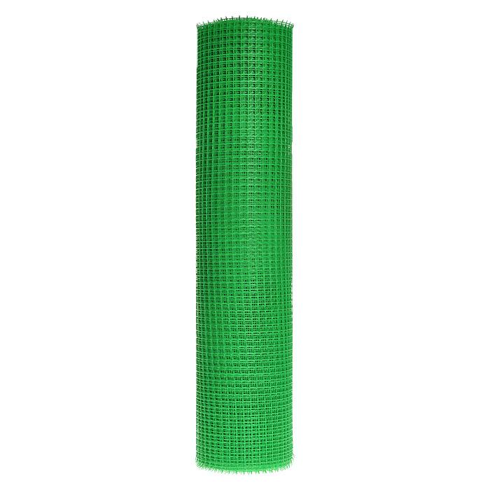 Решетка садовая FIT, цвет: зеленый, длина 20 мМ 3093Садовая решетка FIT изготовлена из пластика зеленого цвета. Оснащена мелкими квадратными ячейками размером 1,5 см х 1,5 см. Предназначена для организации различных ограждений на садовом участке. Характеристики:Материал: пластик. Цвет: зеленый. Размер ячейки: 1,5 см х 1,5 см. Длина: 20 м. Ширина: 1 м.