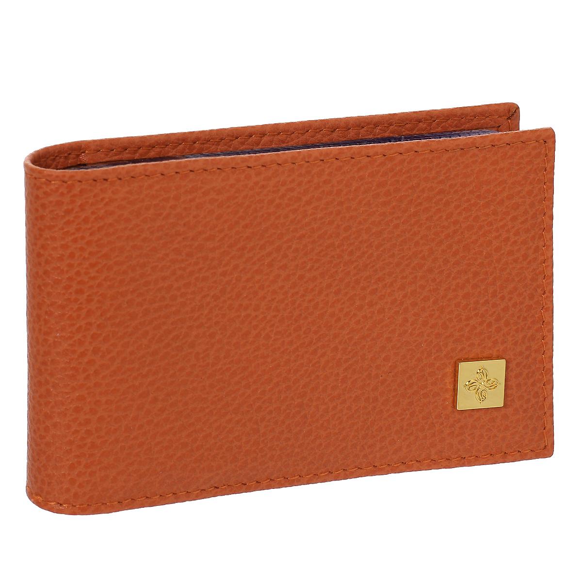 Визитница Dimanche Corail, цвет: коралловый. 944INT-06501Визитница Corail - это стильный аксессуар, который не только сохранит визитки и кредитные карты в порядке, но и, благодаря своему строгому дизайну и высокому качеству исполнения, блестяще подчеркнет тонкий вкус своего обладателя. Визитница выполнена из натуральной матовой высококачественной кожи и содержит внутри съемный блок из 16 прозрачных пластиковых вкладышей, рассчитанных на 32 визитки.Визитница Corail станет великолепным подарком ценителю современных практичных вещей. Визитница упакована в фирменную коробку из картона. Характеристики:Материал: натуральная кожа, пленка ПВХ, металл. Цвет: коралловый. Размер визитницы: 10,5 см х 6,5 см х 1,5 см.