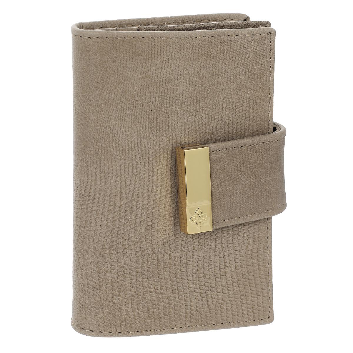 Футляр для кредитных карт Dimanche Elite Beige, цвет: бежевый. 737INT-06501Футляр для дисконтных карт Elite Beige выполнен из натуральной мягкой высококачественной кожи с тиснением под кожу варана. Внутри отделение для карт, два накладных кармашка, а также отделение с прозрачным окошком. Футляр закрывается на хлястик с кнопкой. Изделие упаковано в фирменную картонную коробку. Характеристики:Материал: натуральная кожа, текстиль, металл. Цвет: бежевый. Размер футляра: 10,5 см х 7 см х 1,5 см.