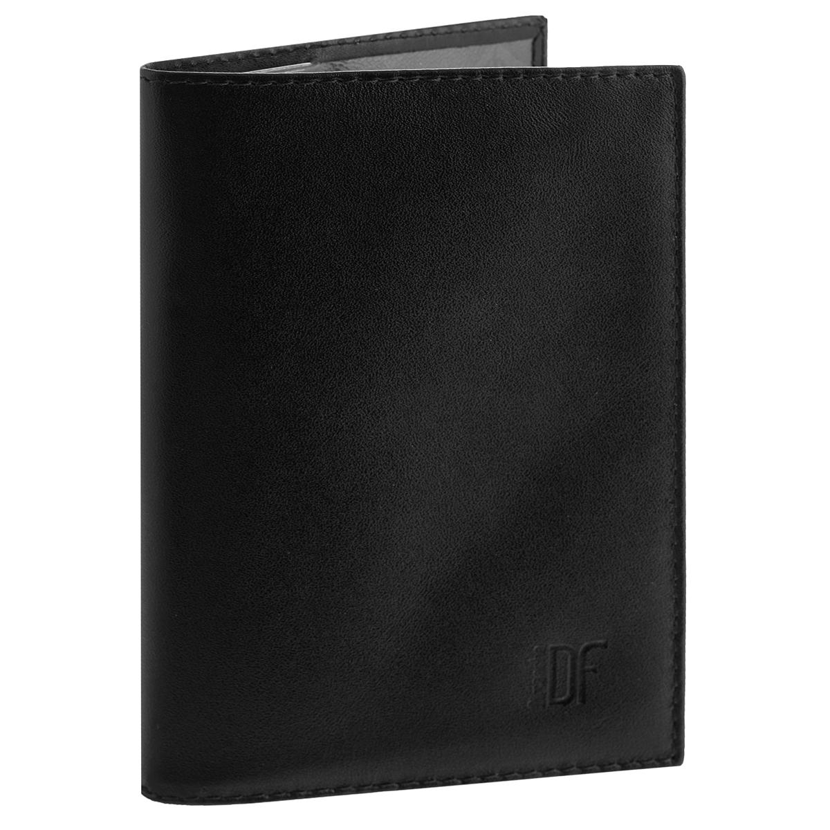 Обложка для паспорта Dimanche Bond, цвет: черный. 9601-022_516Обложка для паспорта Bond выполнена из натуральной кожи с матовой поверхностью. На внутреннем развороте - два кармашка из прозрачного пластика. Обложка не только поможет сохранить внешний вид ваших документов и защитит их от повреждений, но и станет стильным аксессуаром, который подчеркнет ваш неповторимый стиль.Обложка упакована в коробку из плотного картона с логотипом фирмы. Характеристики:Материал: натуральная кожа, ПВХ. Цвет: черный. Размер обложки: 9,5 см х 13,5 см х 1,5 см.