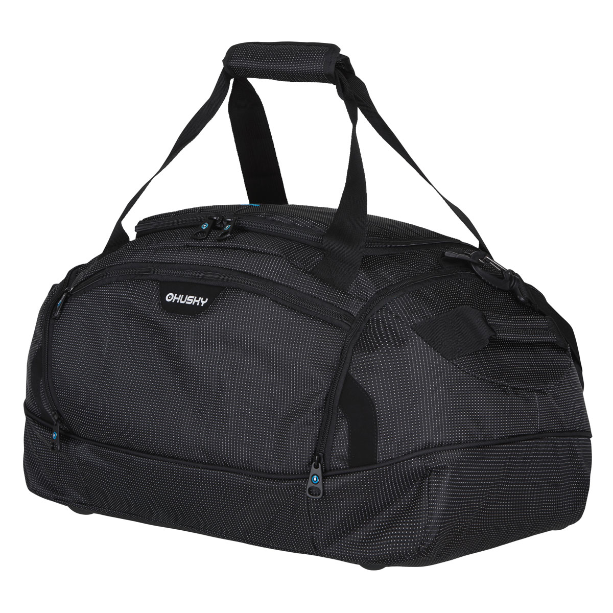 Сумка спортивная Husky Grape 80 L, цвет: черныйУТ-000048762Комфортная и практичная спортивная сумка Grape 80 L.Особенности модели: Водонепроницаемая ткань, Два боковых кармана, Внутренний органайзер, Съемный наплечный ремень.