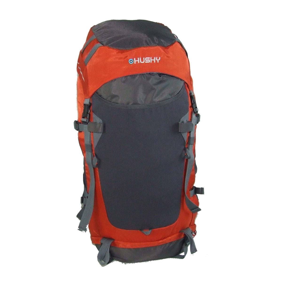 Рюкзак туристический Husky Rony 50, цвет: оранжевыйУТ-000057591Рюкзак туристический Husky Rony 50 станет Вашим незаменимым спутником во время путешествий, отдыха на свежем воздухе или занятий спортом. Вместительное внутреннее отделение, множество внешних карманов вместят все необходимо снаряжение, при этом вес рюкзака равномерно распределяется на вашу спину и плечи благодаря спинке анатомической формы с ребрами жесткости. Удобные плечевые лямки и поясной ремень надежно зафиксируют рюкзак на спине во время сложного похода.Особенности: два отделения с боковым входом, водонепроницаемая легкая ткань, жесткая спина из пластика EVA,дюралюминиевые вставки,боковые карманы-сетки,держатели для палок, ледоруба,регулируемая крышка-карман,накидка от дождя, молнии YKK,система вентиляции спины ETS,место для гидратора,светоотражающие элементы,материал: Нейлон 420D 100T, нейлон RipStop 200D W/P.
