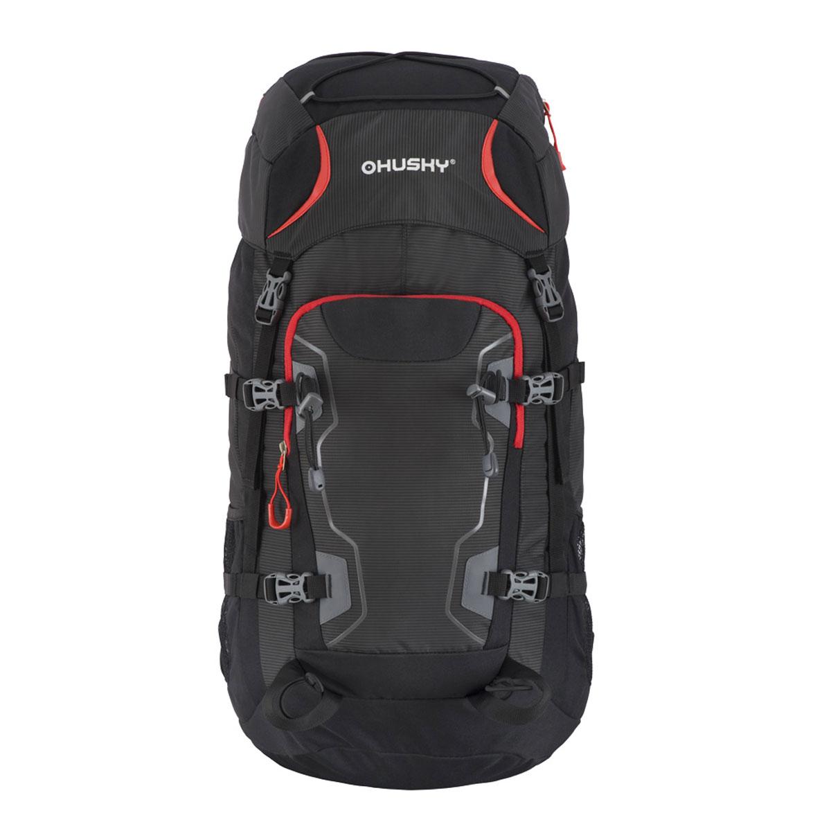 Рюкзак туристический Husky  Sloper 45 , цвет: черный - Туристические рюкзаки