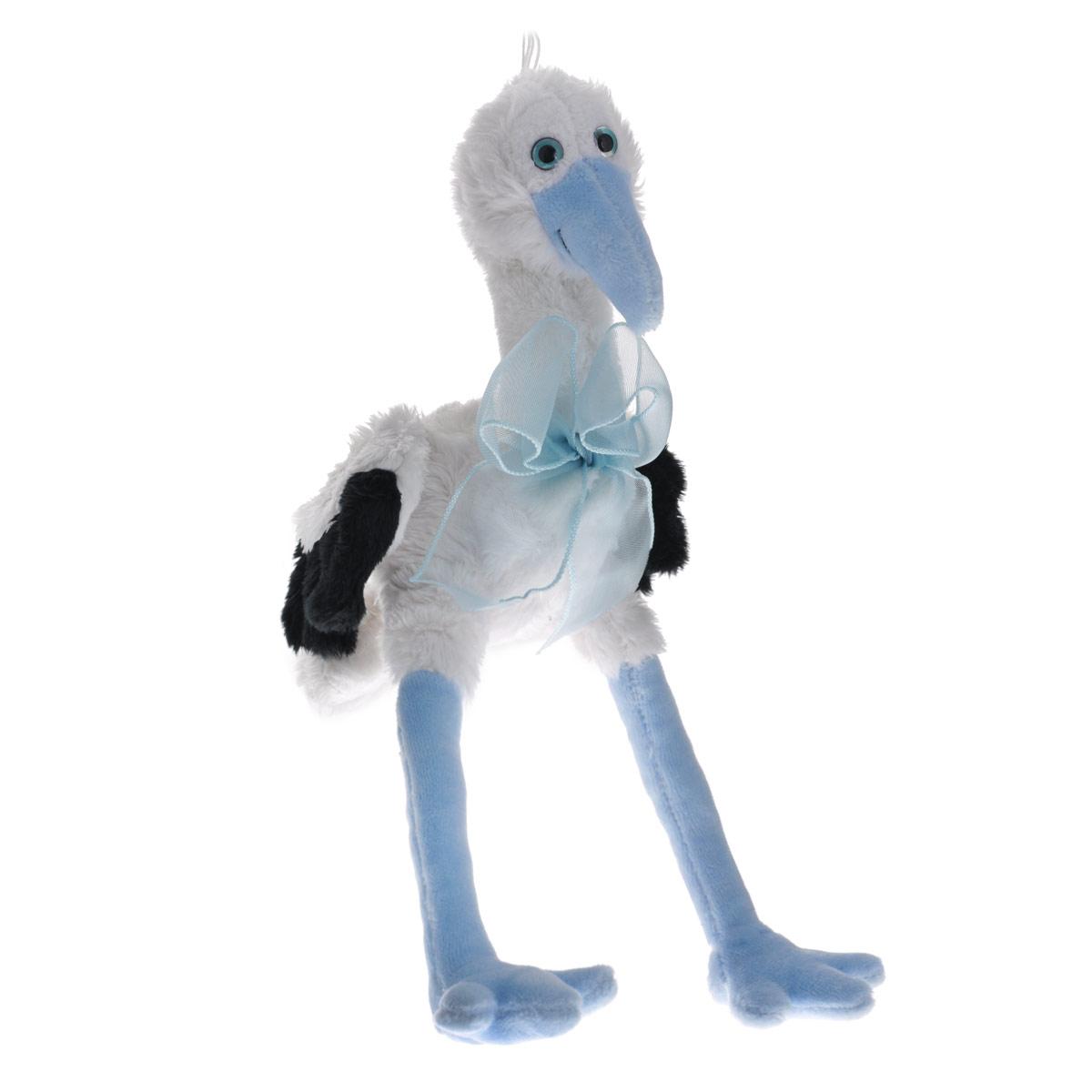 Мягкая игрушка Аист, цвет: белый, голубой, 17 см коньяк белый аист в ижевске