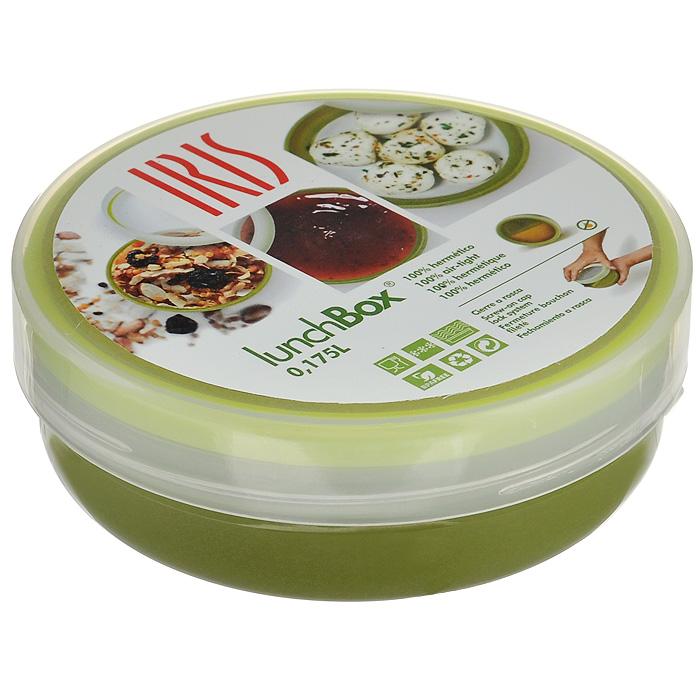 Контейнер пищевой Iris Barcelona, цвет: зеленый, 175 мл21395599Пищевой контейнер Iris Barcelona круглой формы выполнен из пластика зеленого цвета. Контейнер оснащен плотно закручивающейся крышкой, что исключает проливание. Такой контейнер пригодится где угодно: его можно взять с собой на работу, учебу, прогулку или в поездку. Где бы вы ни были, компактный и удобный контейнер позволит взять с собой любимые приправы, специи и соусы отдельно от основных блюд. С его помощью также можно взять с собой выпечку для утреннего чая или кофе на работе или учебе. Идеально подходит для соусов, орехов, варенья и другого. Характеристики: Материал: пластик. Цвет: зеленый. Объем: 175 мл. Диаметр контейнера (ДхШхВ): 10 см. Высота: 3,5 см.