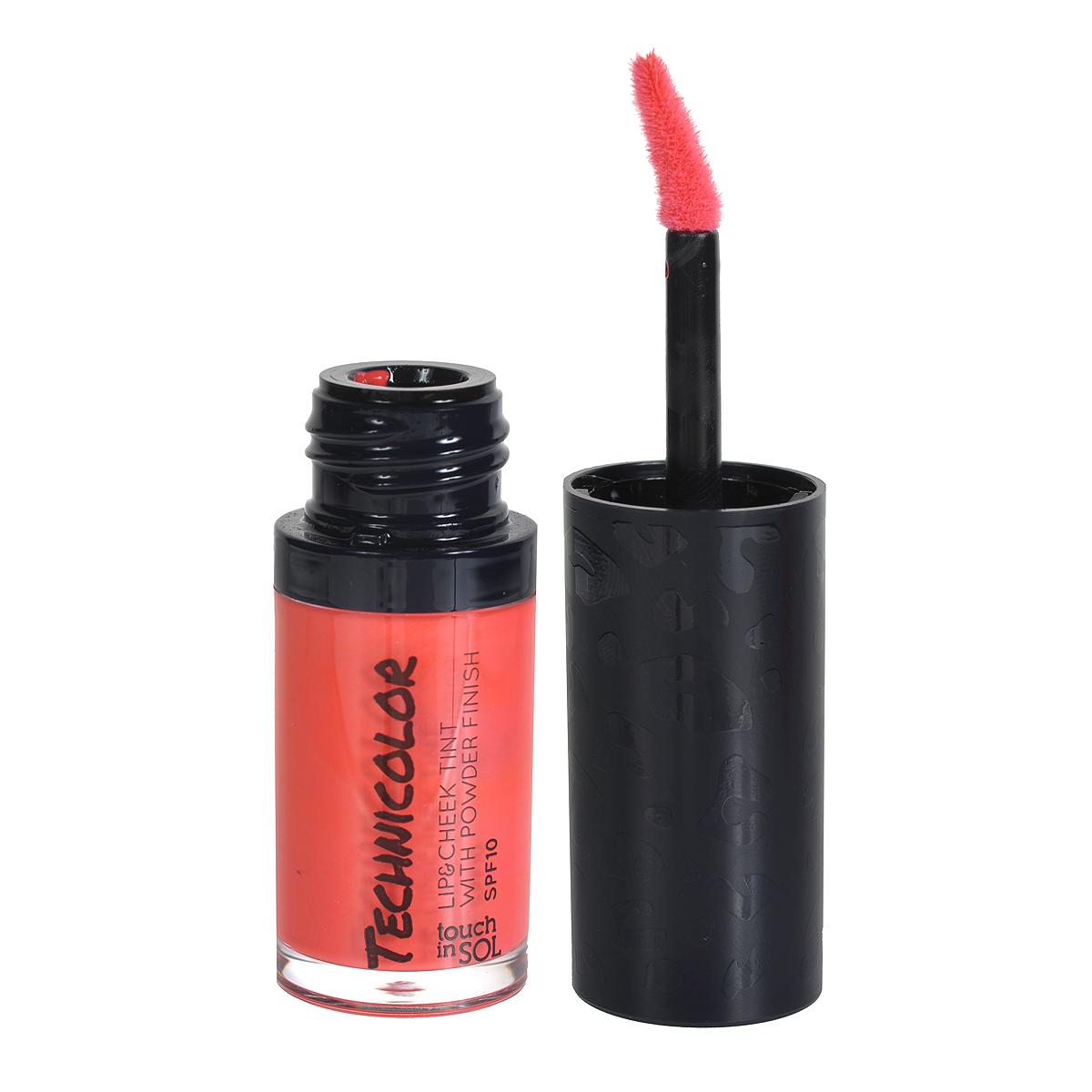 Touch In Sol Тинт для губ и щек Technicolor, с пудровым эффектом, SPF10, тон №04 Mystique Coral, 5 мл28032022Муссовая текстура позволит воспроизвести прикосновение розы и сделает лицо элегантным и ухоженным. Благодаря специальной формуле можно создать от мягких и нежных оттенков до насыщенно-ярких цветов. Хорошо сохраняется в течение дня. Защищает губы от солнечных лучей - эффект SPF 10 и прекрасно увлажняет, благодаря натуральным ингредиентам (масло семян манго, розовое масло, витамин С).Товар сертифицирован.